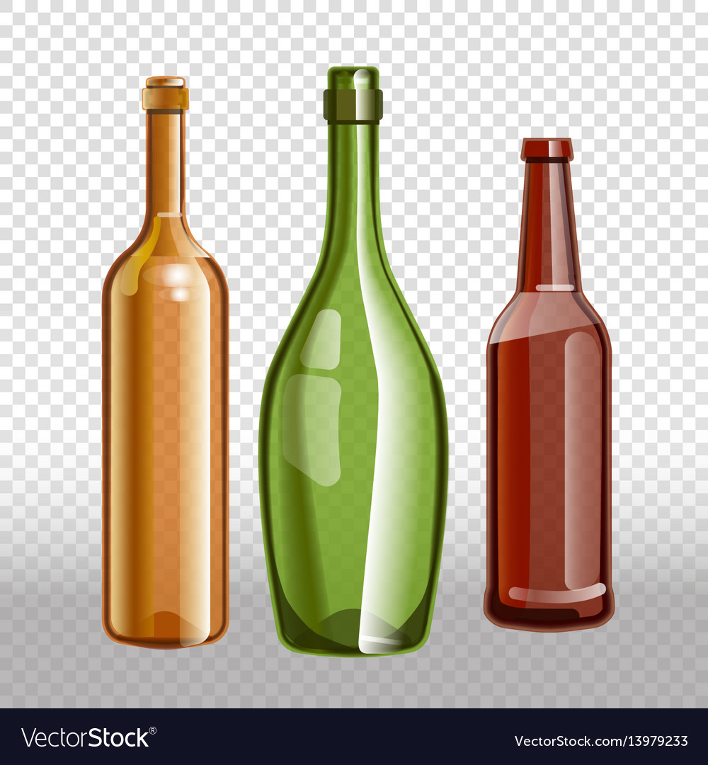 Glass bottles or glassware icons on
