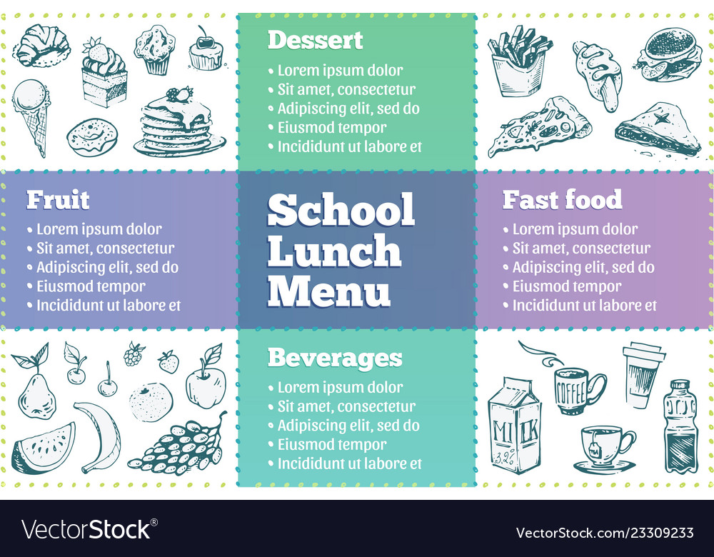 school lunch menu template