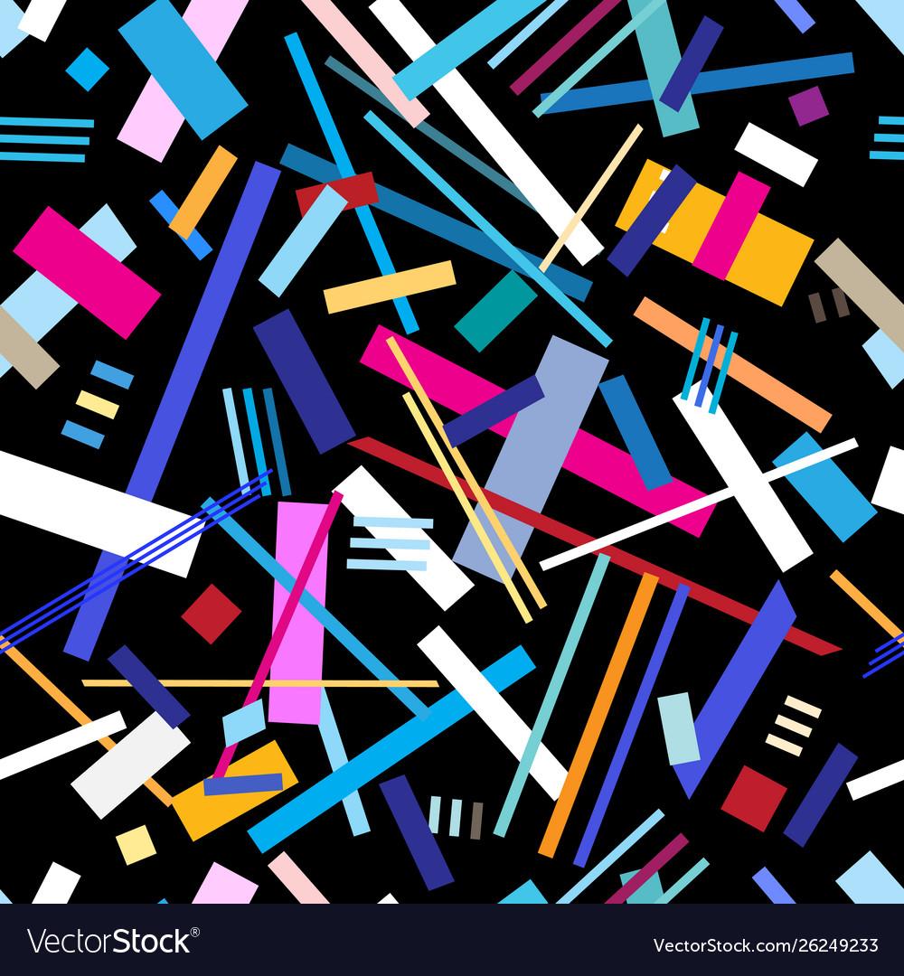 Seamless bright geometric pattern