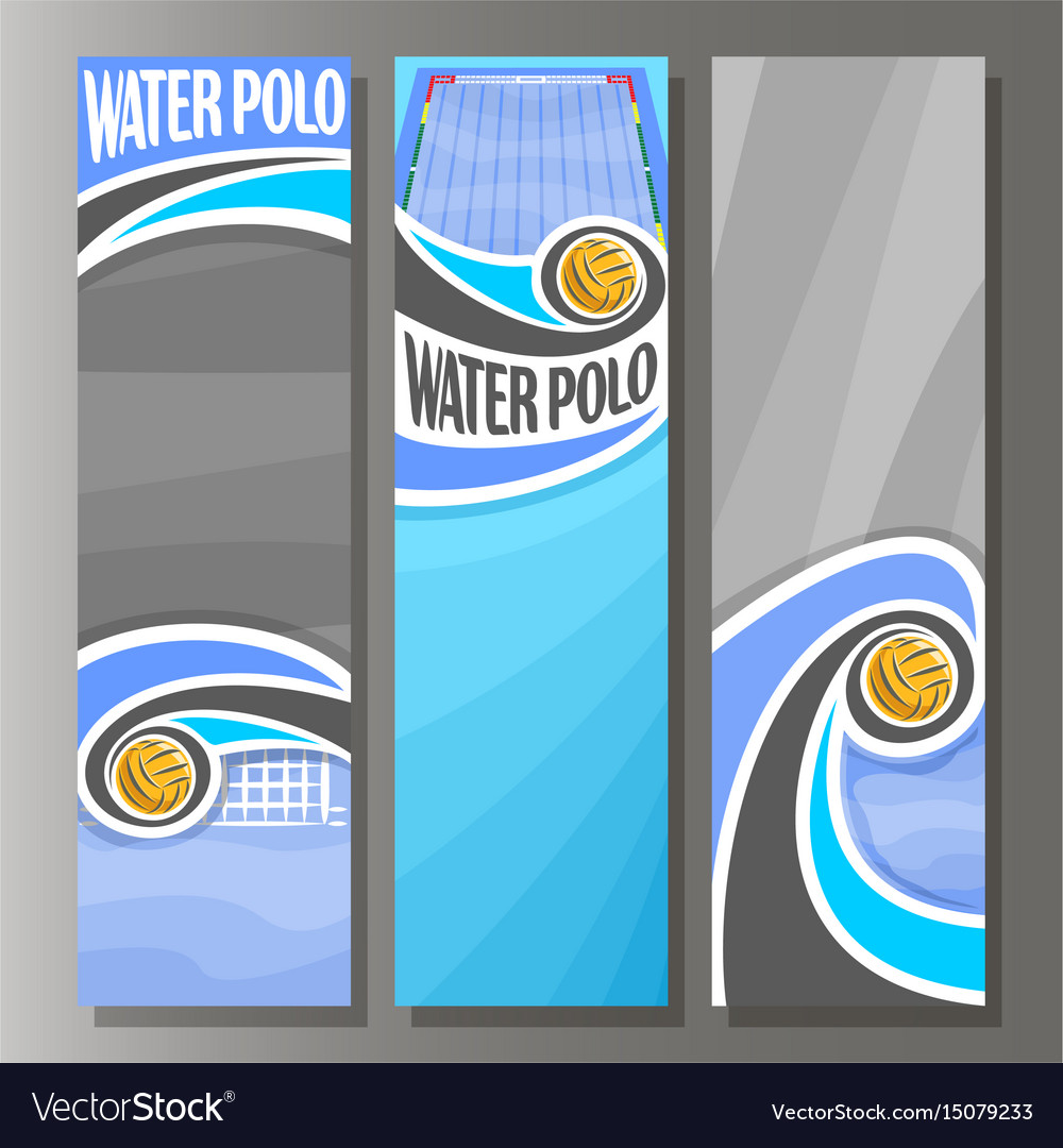 Vertical banners for water polo