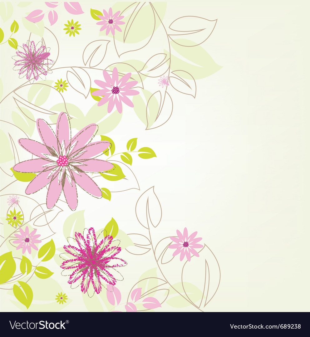 abstract flower background royalty free vector image