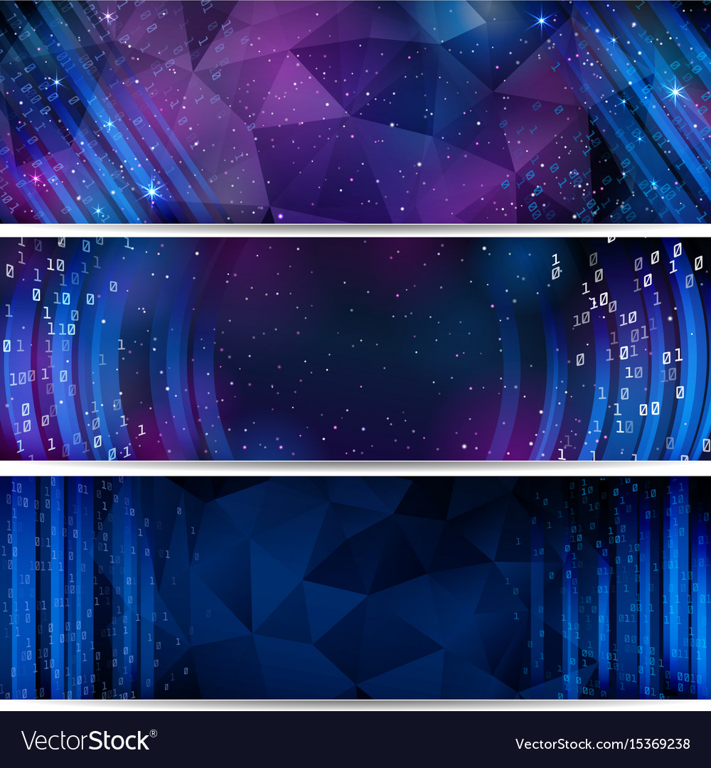 Digital space background with stars and numbers
