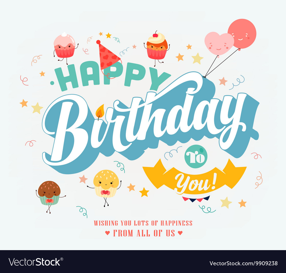 Happy Birthday Banner Royalty Free Vector Image