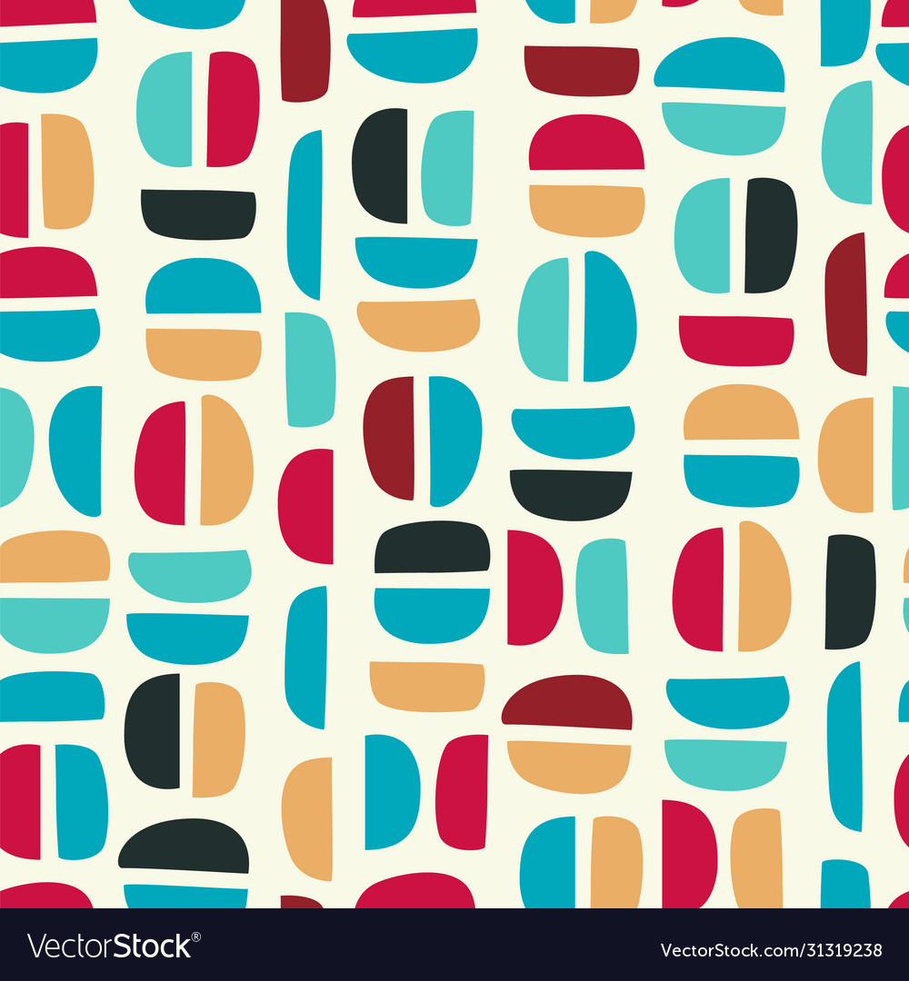 Simple geometric seamless pattern with abstract
