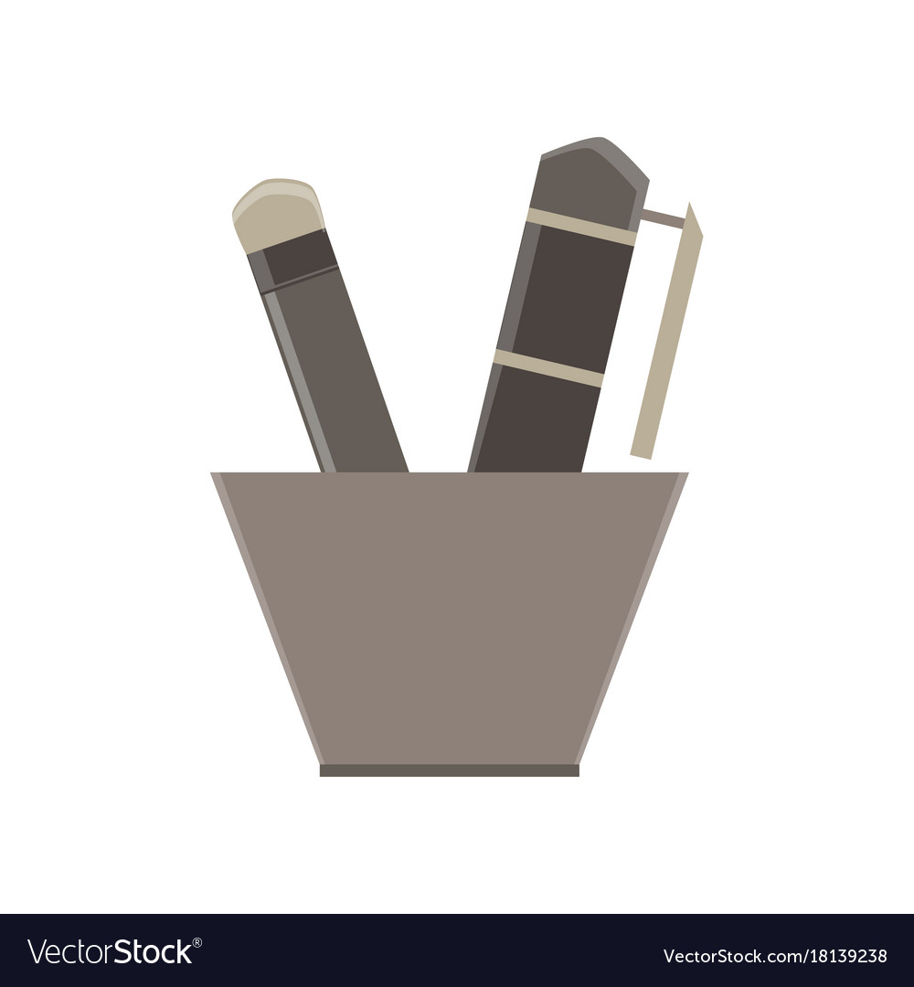 Writing tools flat icon isolated design element