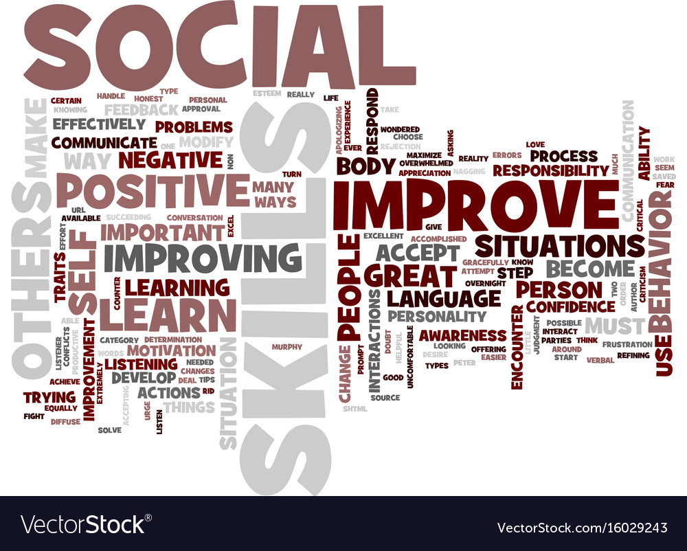 Great ways to improve your social skills text