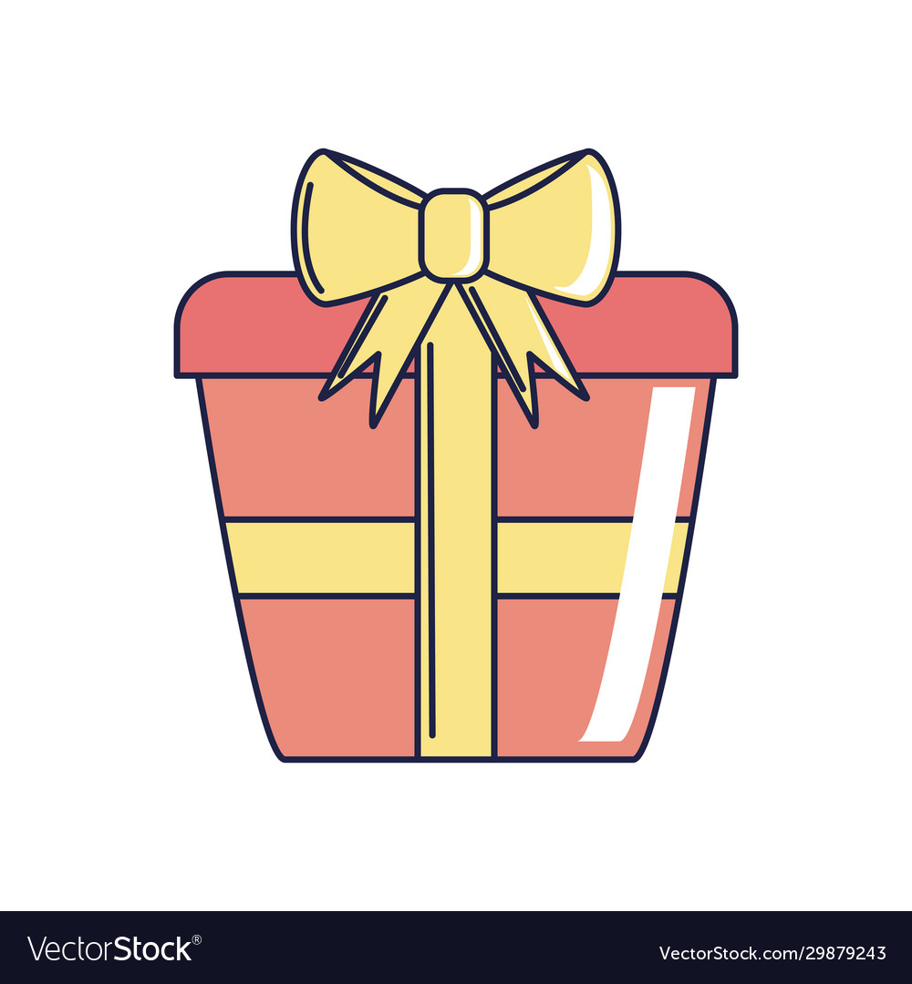 Happy birthday red wrapped gift box surprise