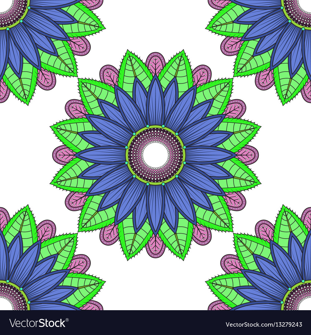 Mandala floral color flower oriental