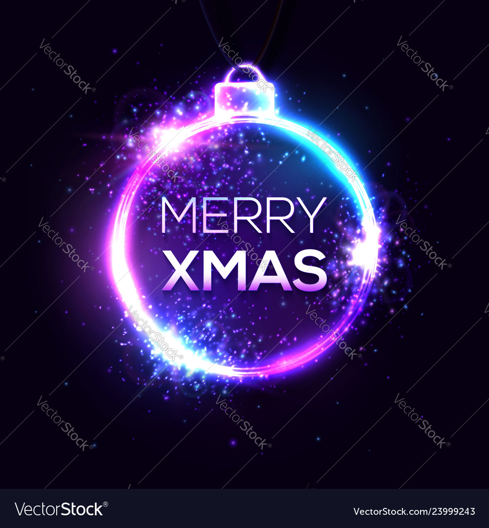 Merry xmas background electricity abstract sign