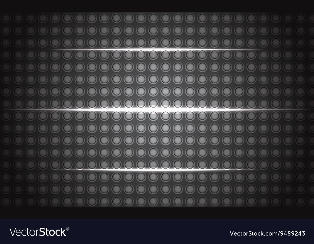 Metall background with glowing lines