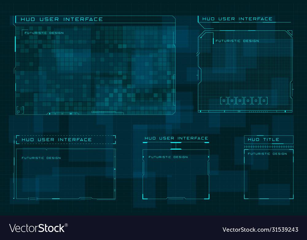 Set hud user screen interface on dark blue