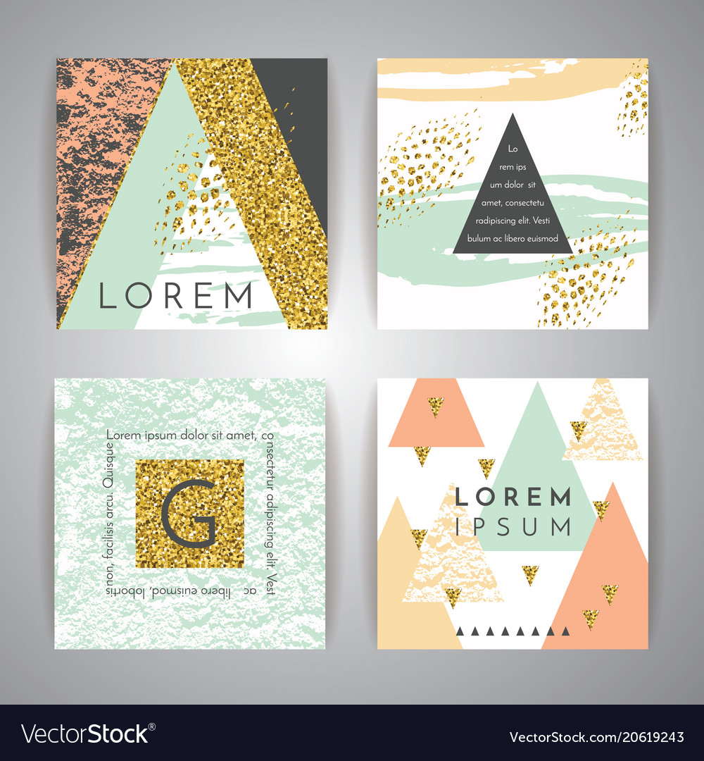 Set of abstract geometric backgrounds