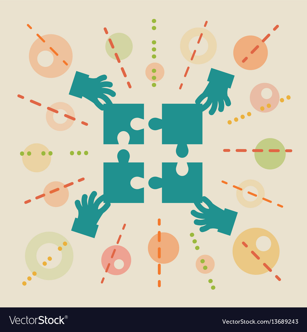 Teamwork concept business vector image