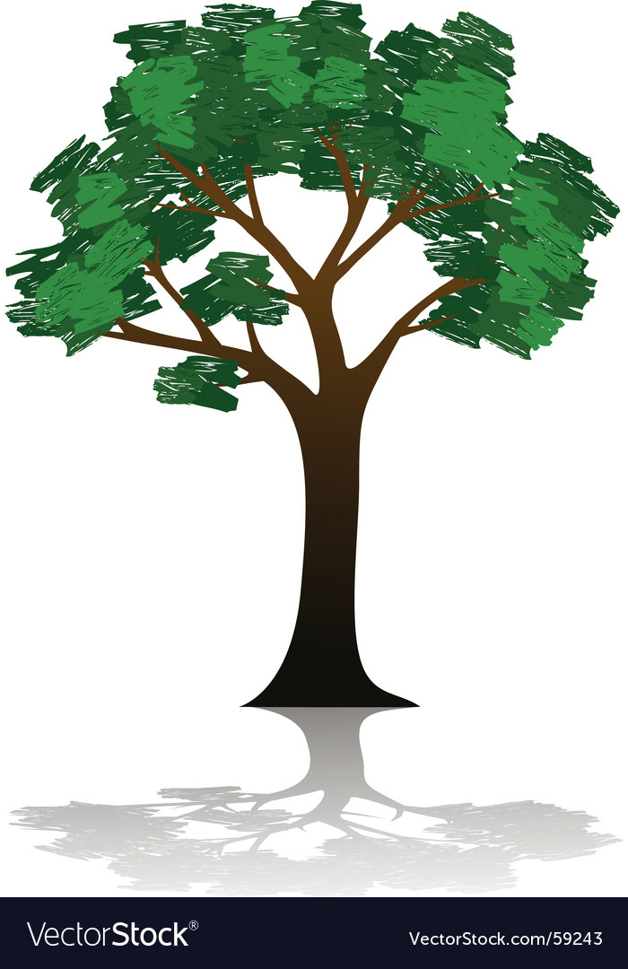 Tree illustration vector image