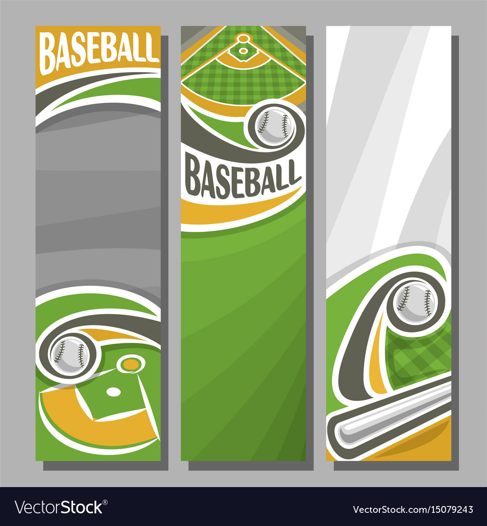 Vertical banners for baseball