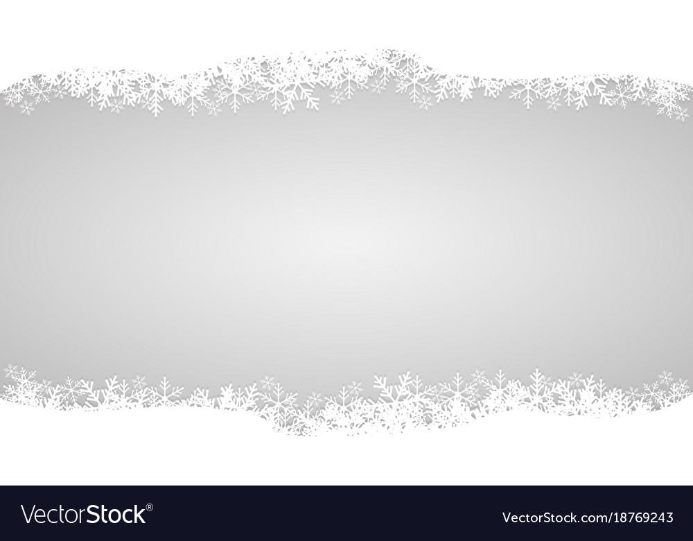 White snow on gray design for merry christmas