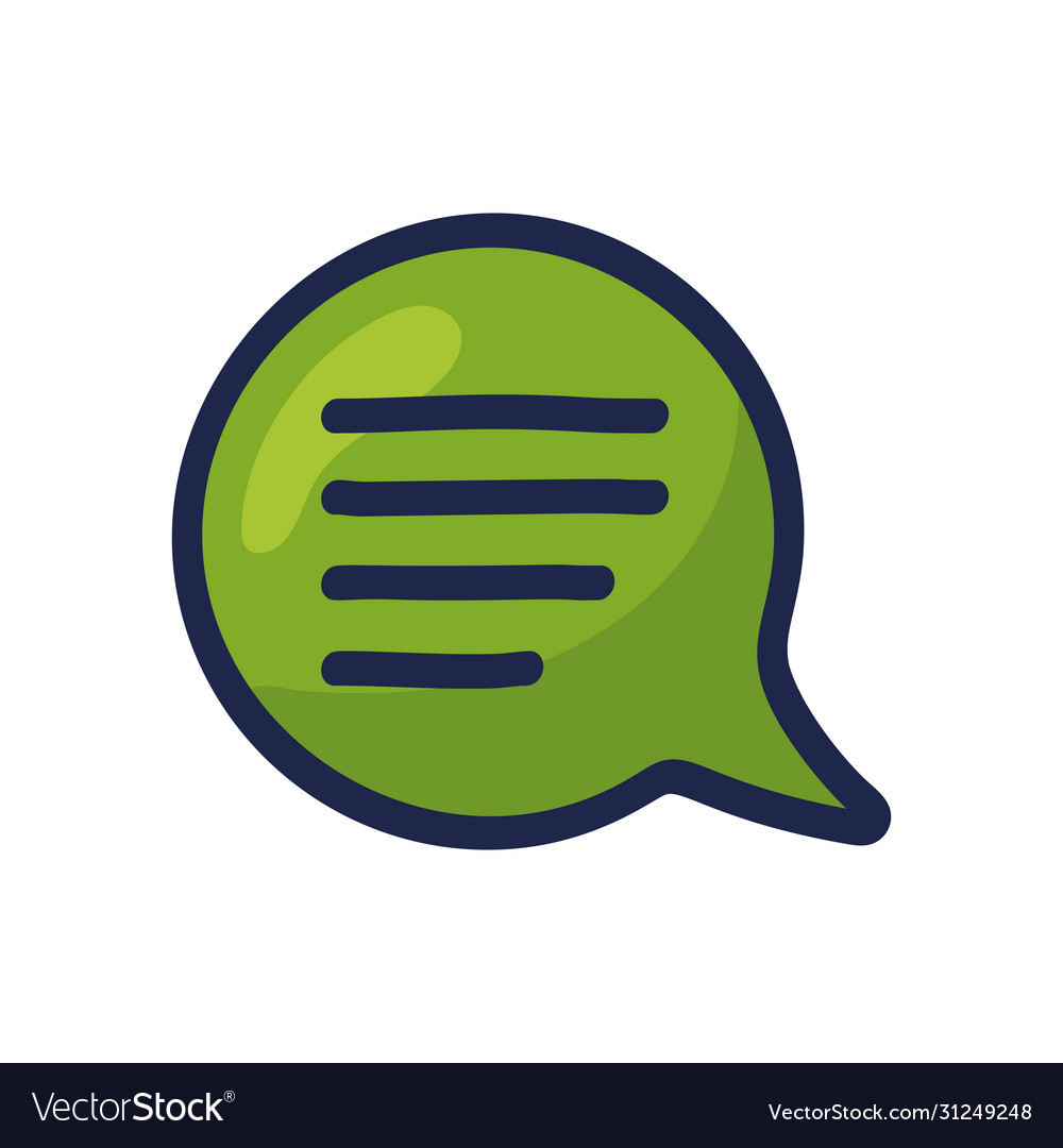 Cartoon doodle speech bubble icon chat sign in