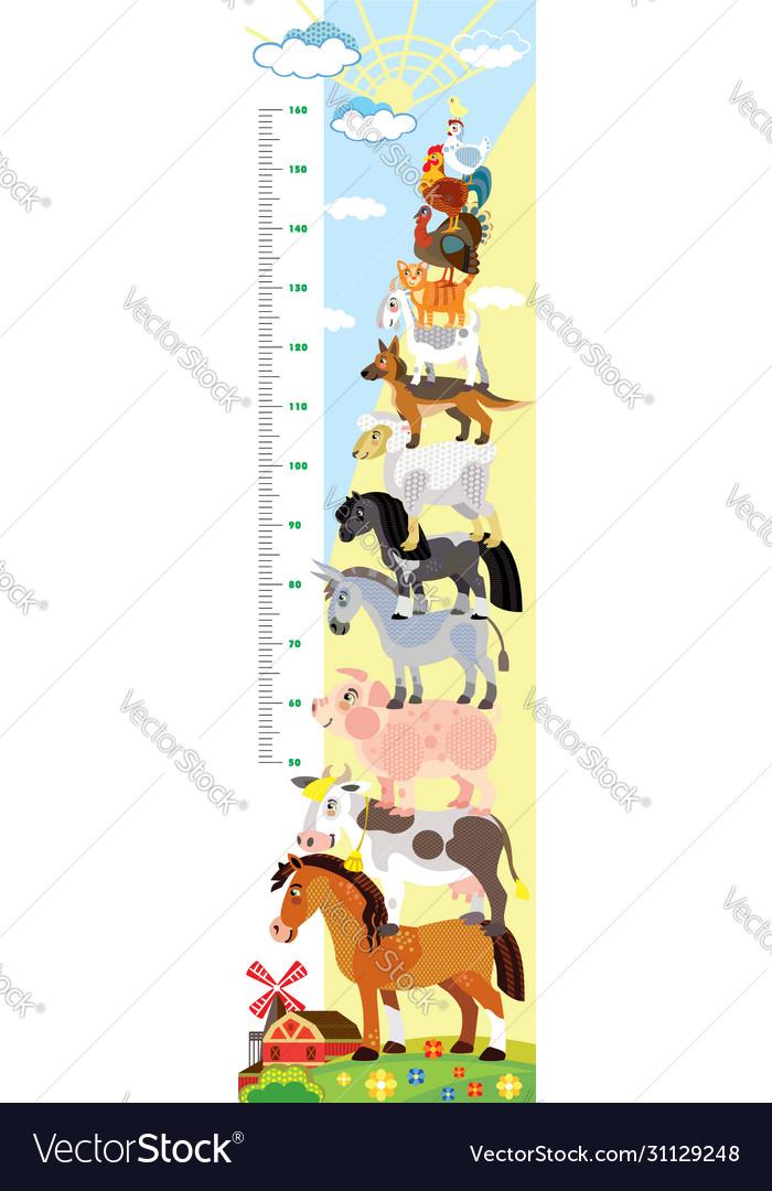 Farm animals height meter