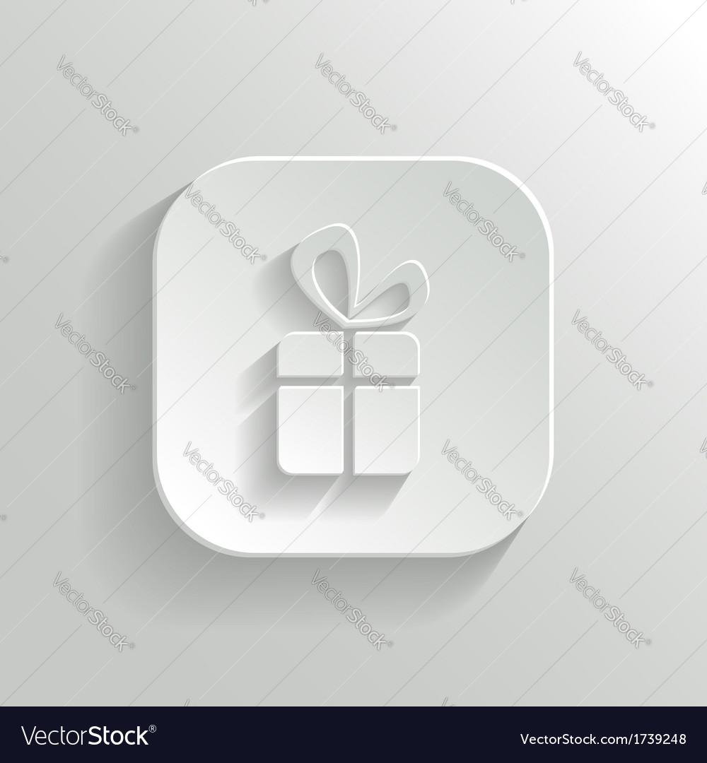 Gift icon - white app button
