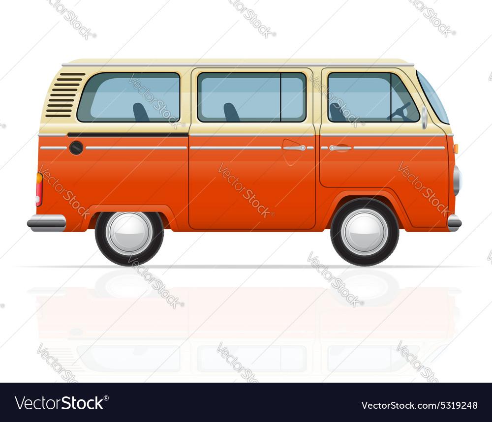 Retro minivan 01 vector image