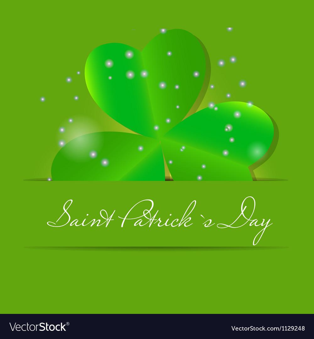 Saint Patricks day background vector image