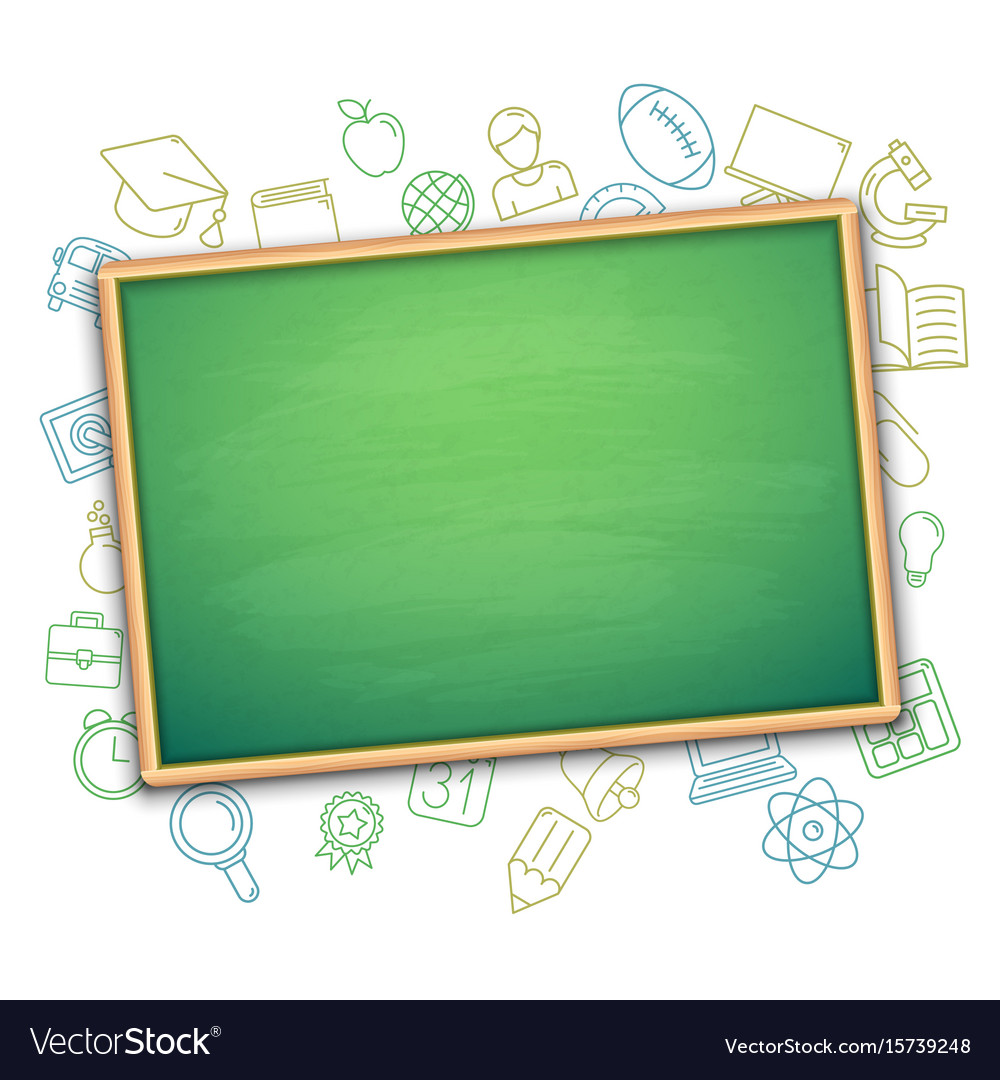 School board and education symbols vector image