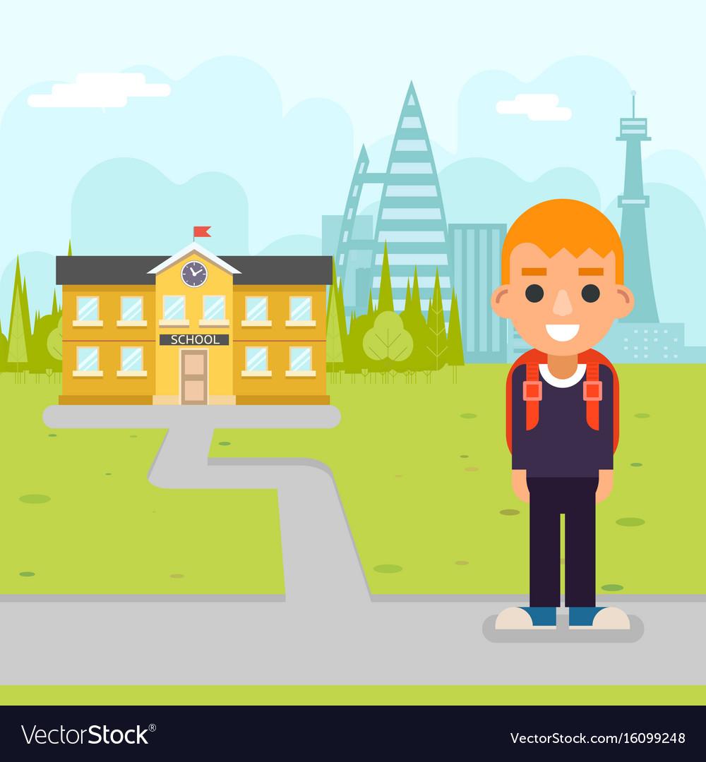 School boy pupil education building student