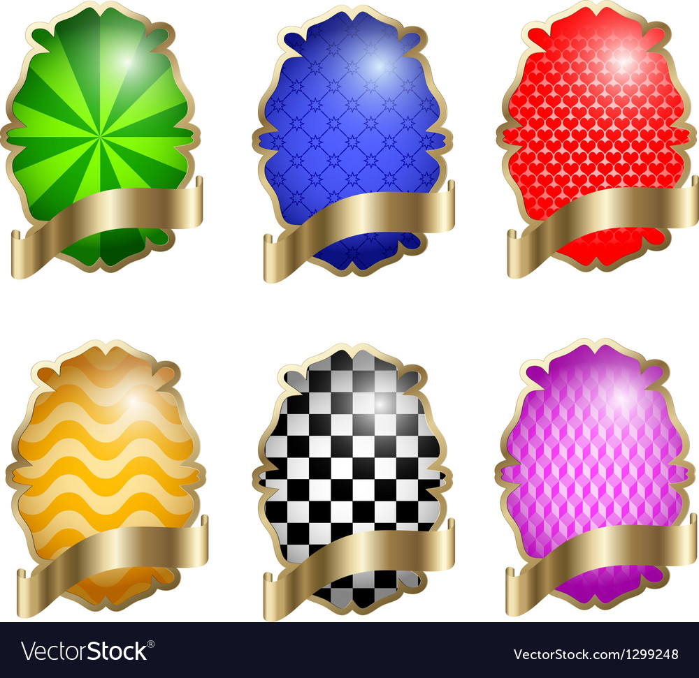 Set of multi-colored labels EPS10 vector image