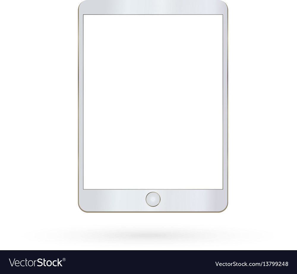Tablet isolated realistic and modern vector image