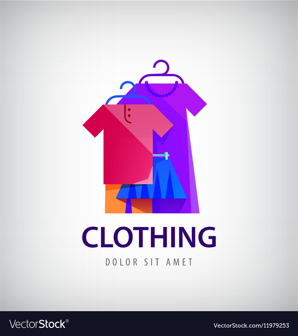 Clothing Logo Online Shop Fashion Icon Royalty Free Vector