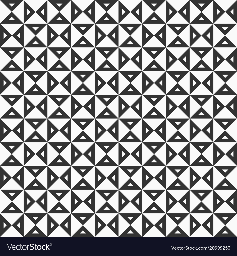 Geometric pattern with triangular elements