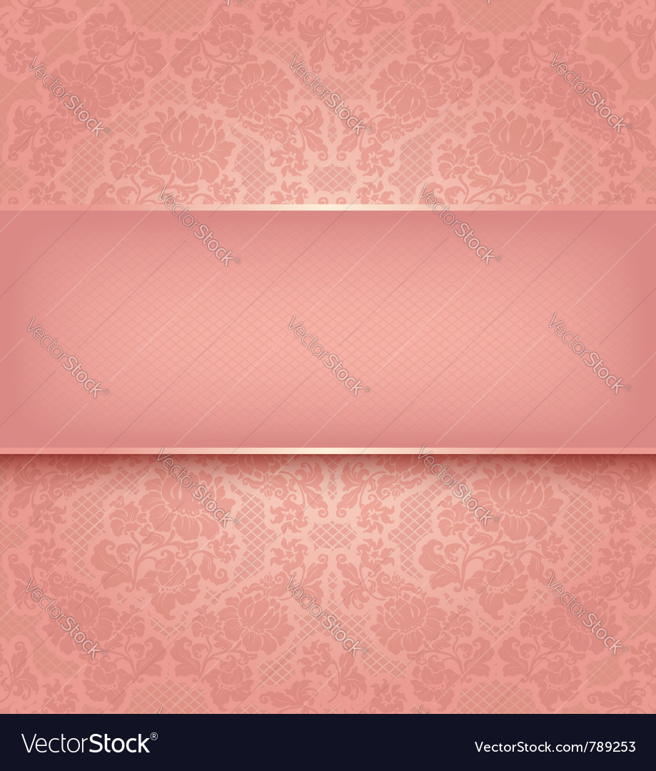 Lace template ornamental pink flowers background