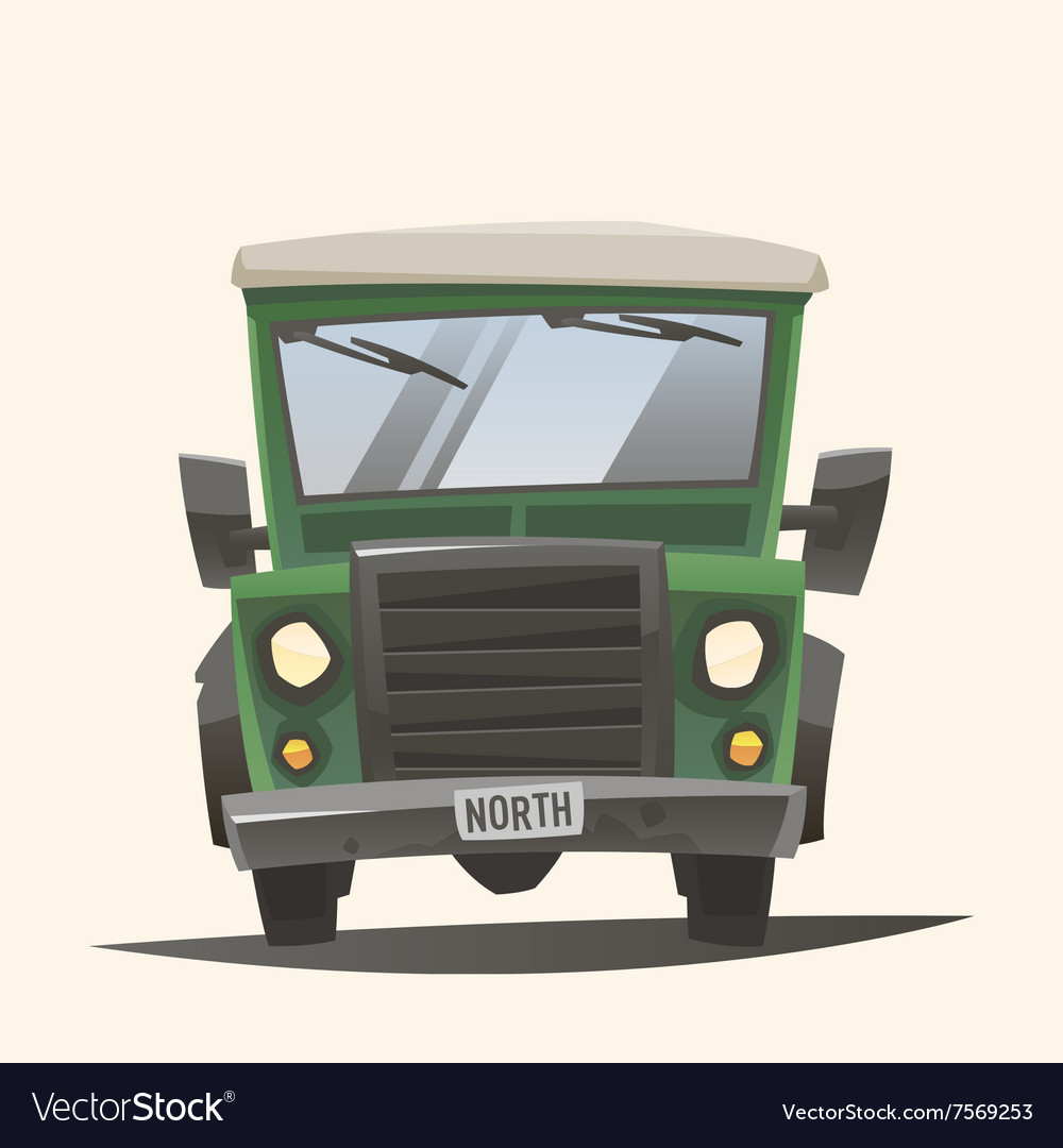 Off road adventure car front view vector image