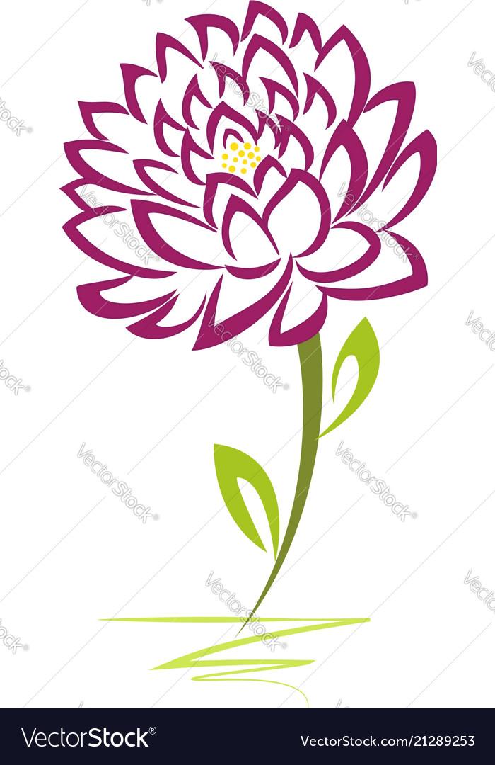 Purple artistic flower