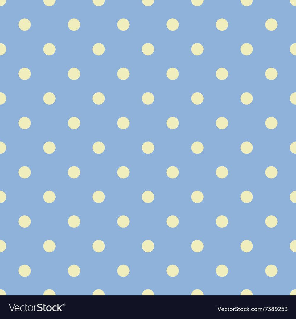 Seamless polka dot blue pattern with circles