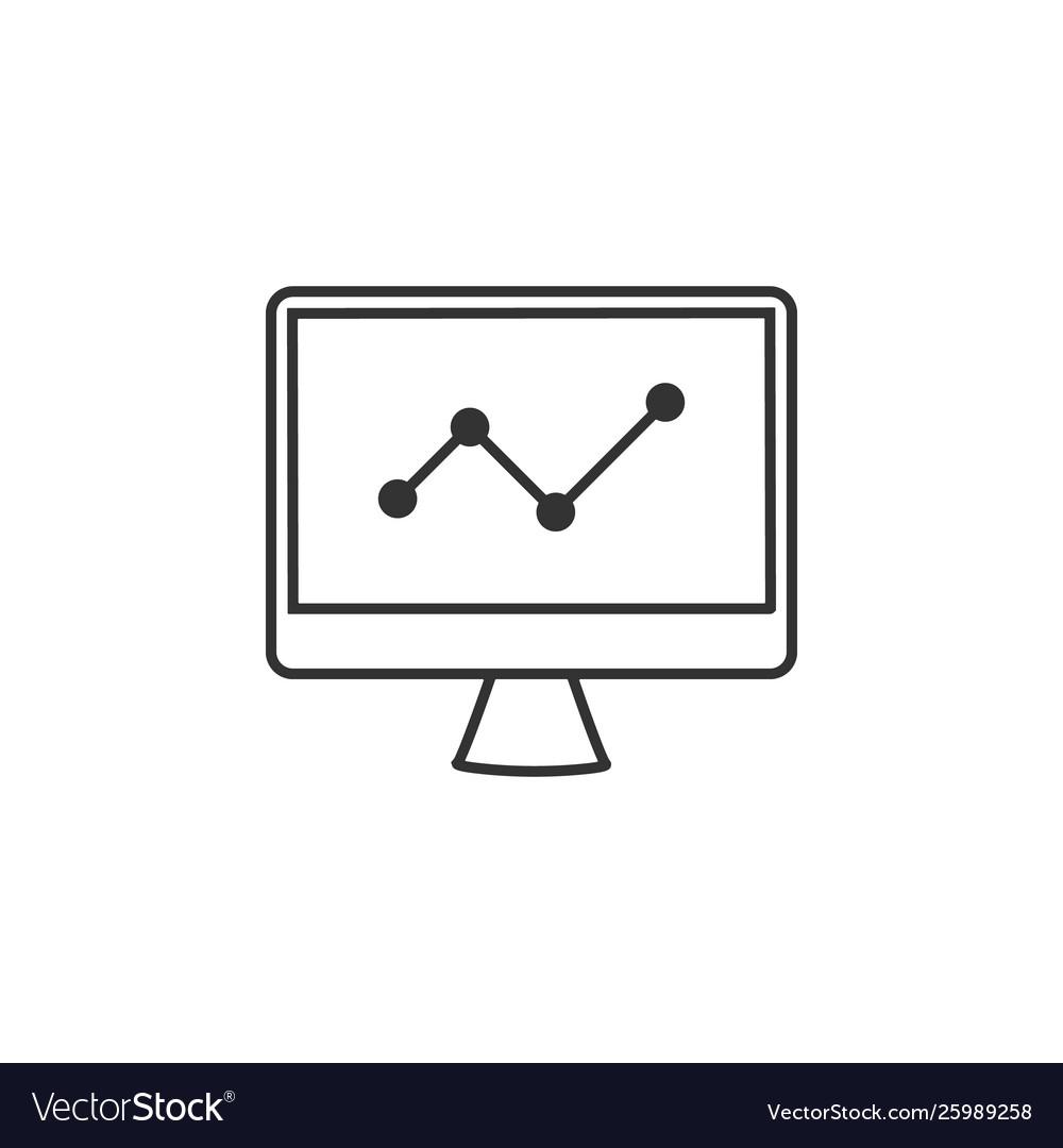 Analytics chart graph line icon simple modern