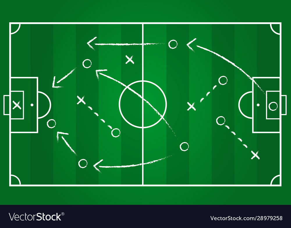 Background soccer team formation and tactic