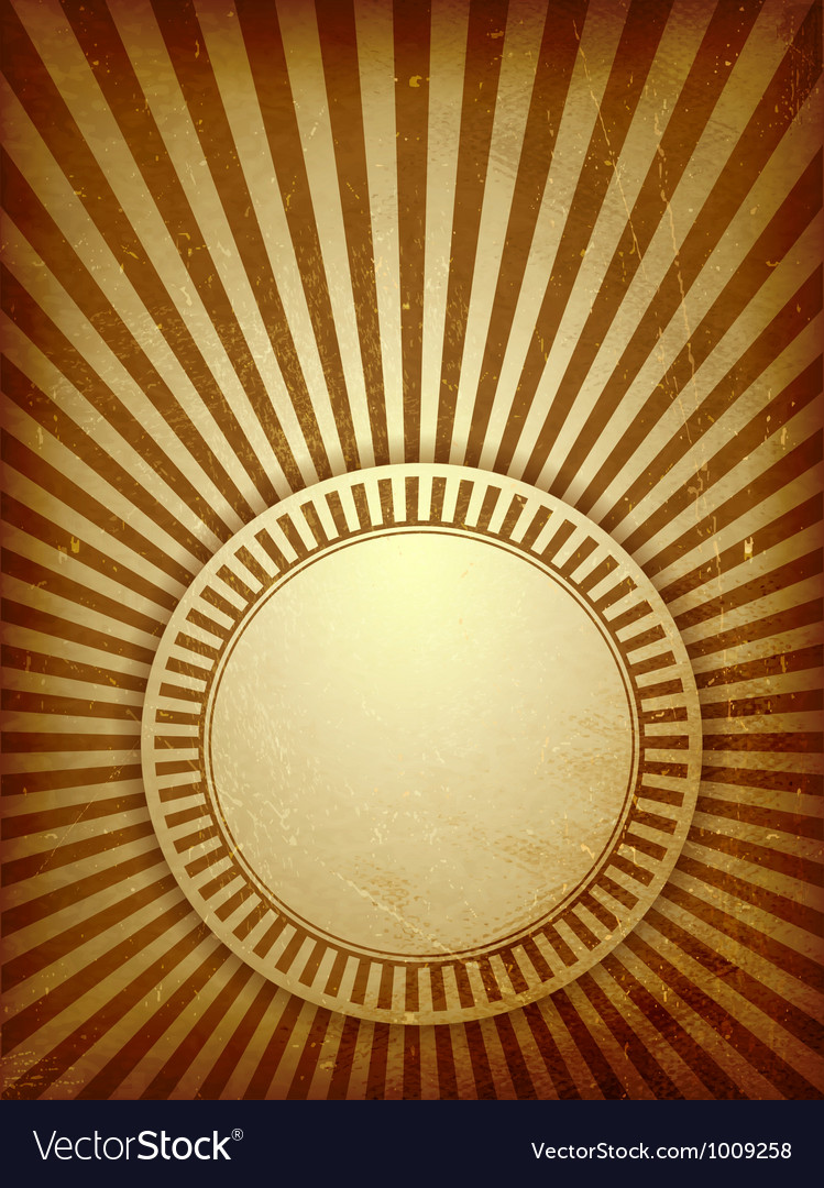 Brown grunge light rays background Royalty Free Vector Image