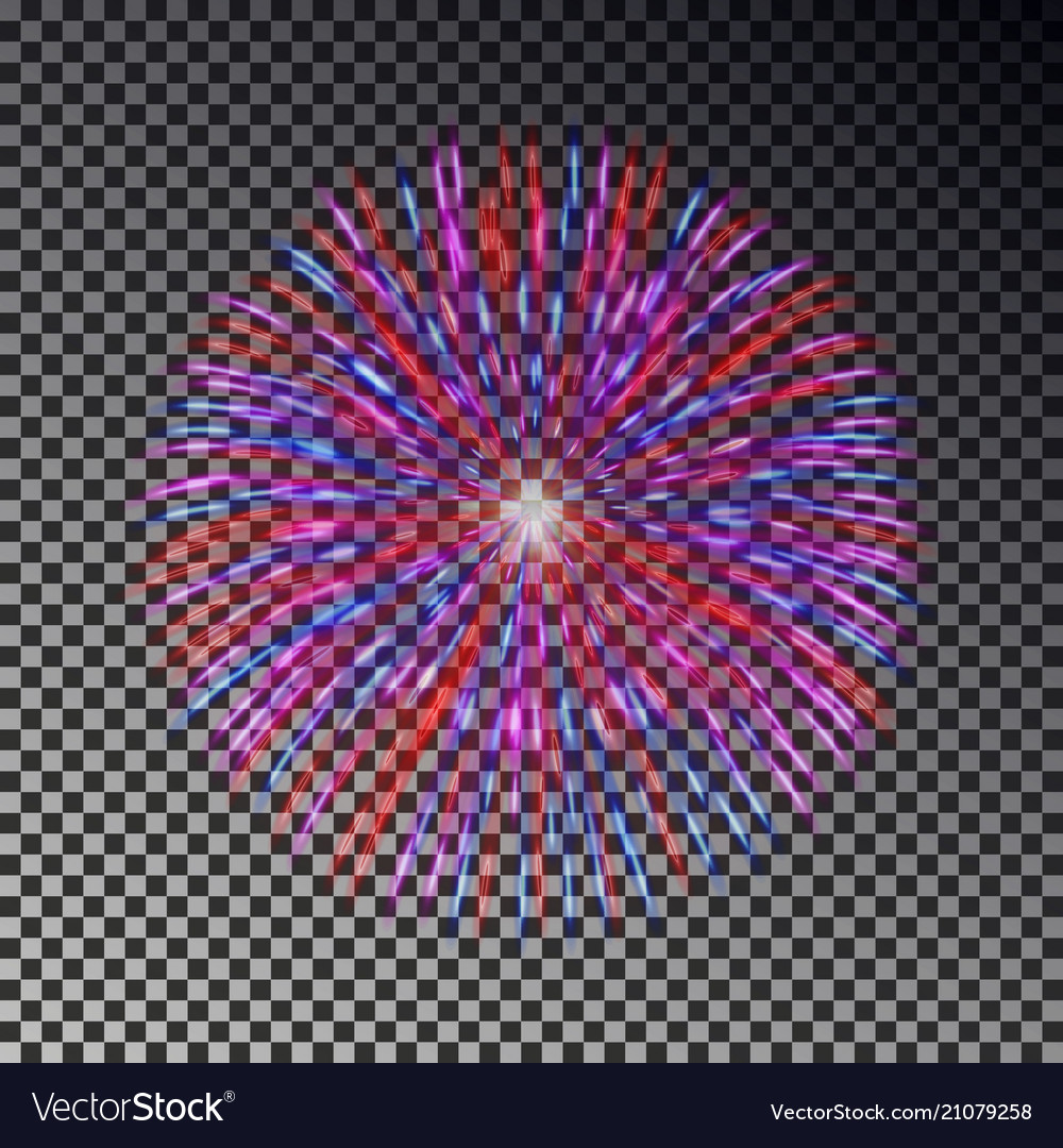 Colorful fireworks on sky firecracker isol