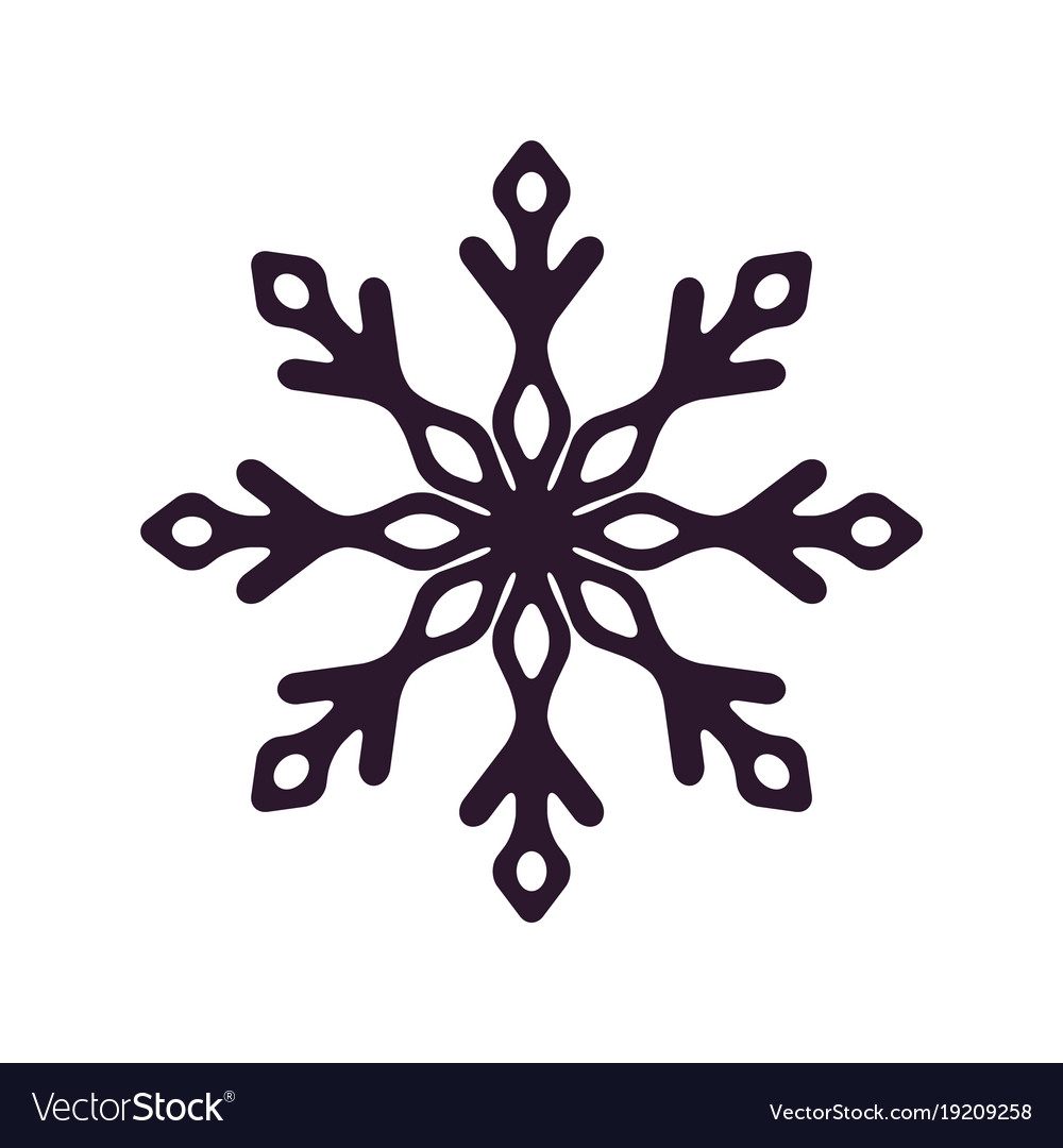 Dark Snowflake Silhouette Icon Royalty Free Vector Image Our snowflake silhouettes clipart includes 1 illustrator eps(8) vector file, 19 png files with transparent backgrounds and19 jpg files with white backgrounds. vectorstock