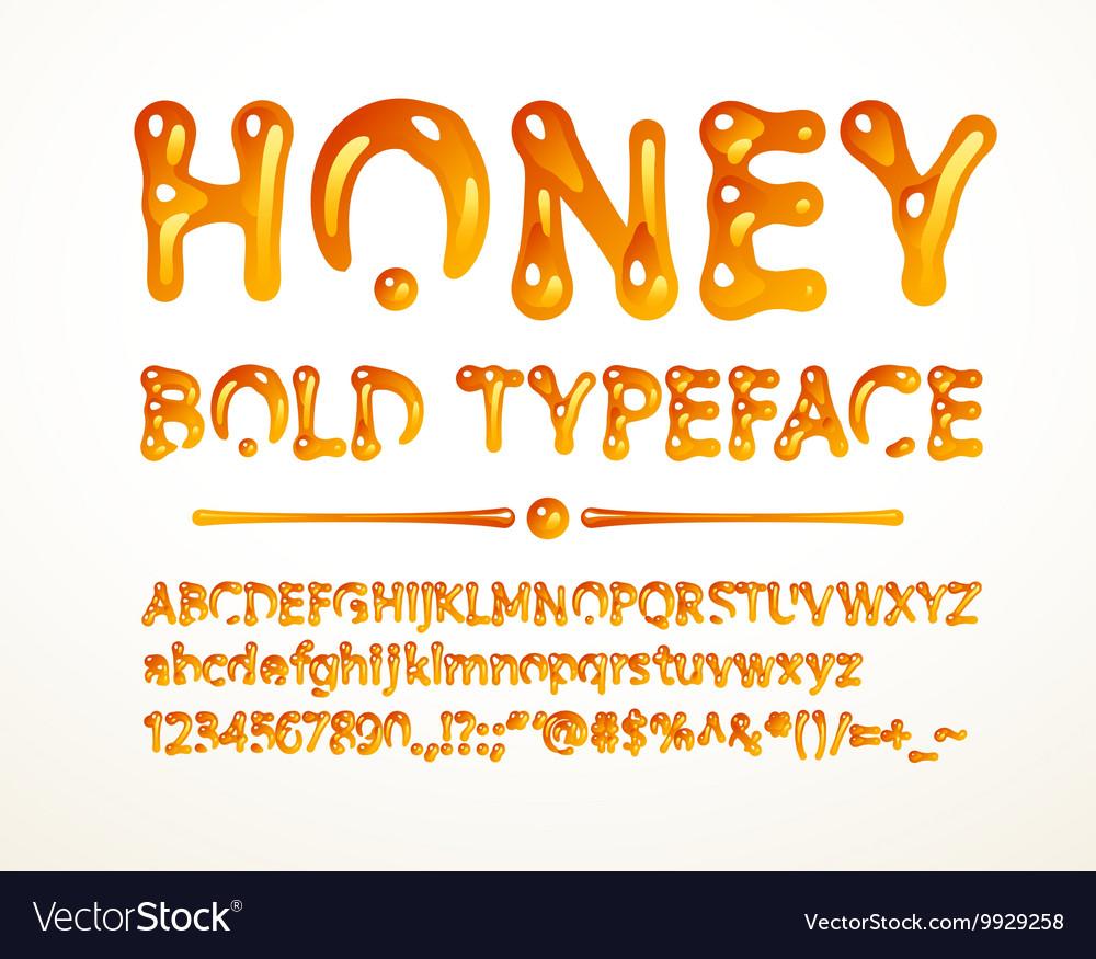 Honey bold typeface