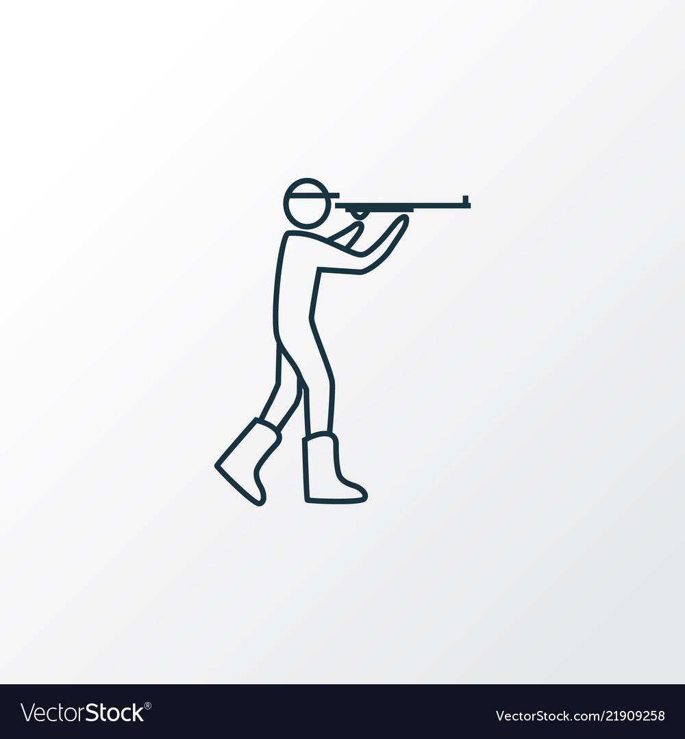 Hunting icon line symbol premium quality isolated