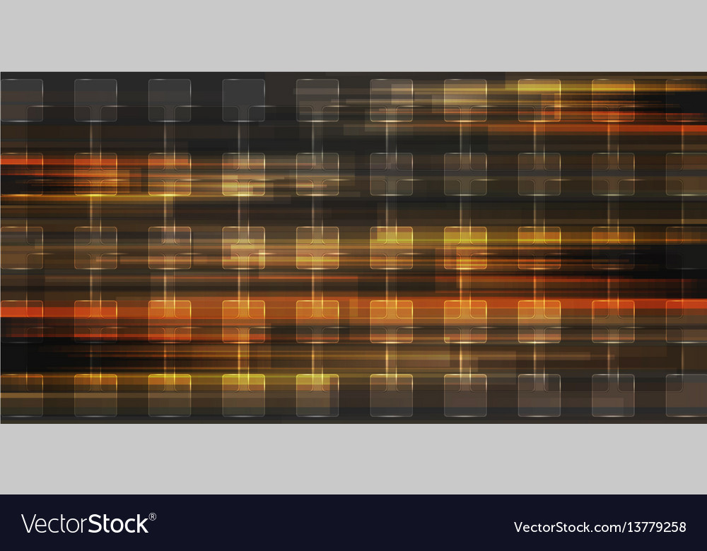 Orange glossy squares abstract geometric vector image