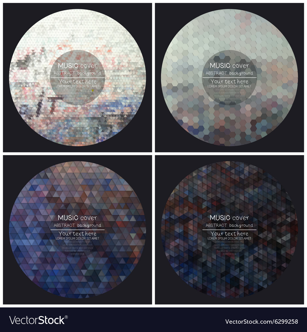 Set of 4 music album cover templates Graffiti
