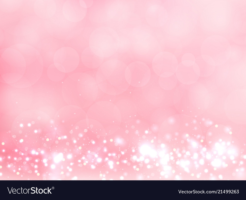 Abstract pink blurred light background with bokeh
