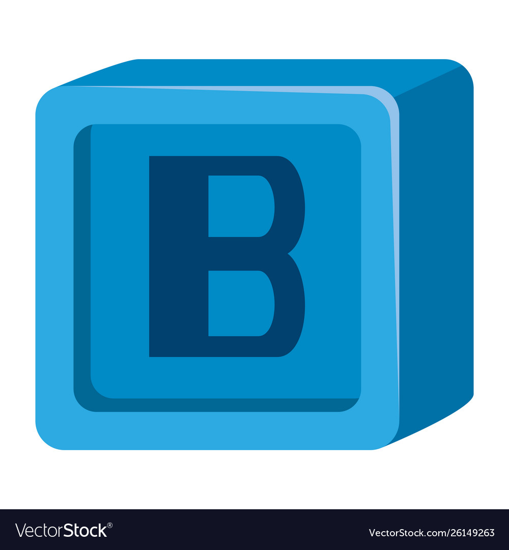 Alphabet block toy bawith letter b