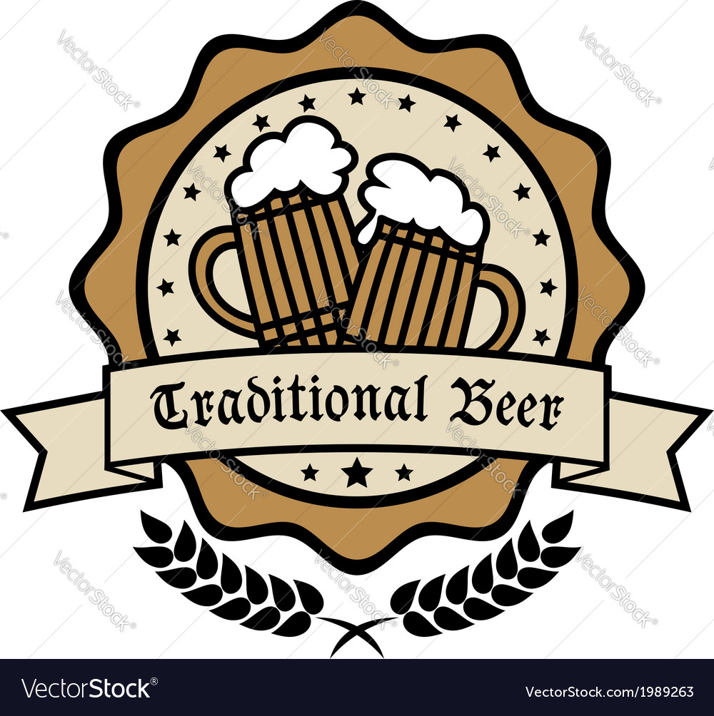 Emblem for Traditional Beer vector image