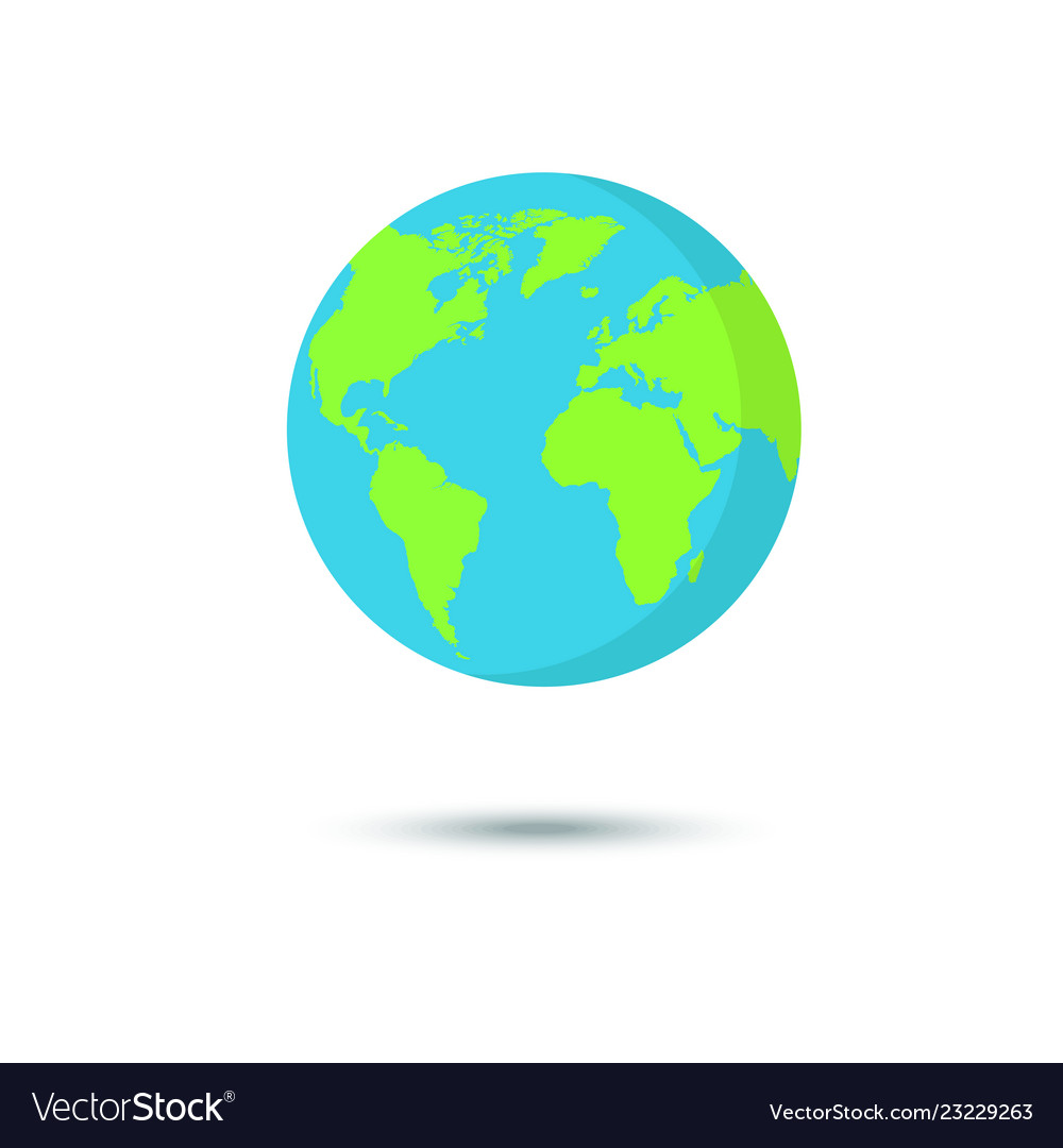 Flat planet earth icon for