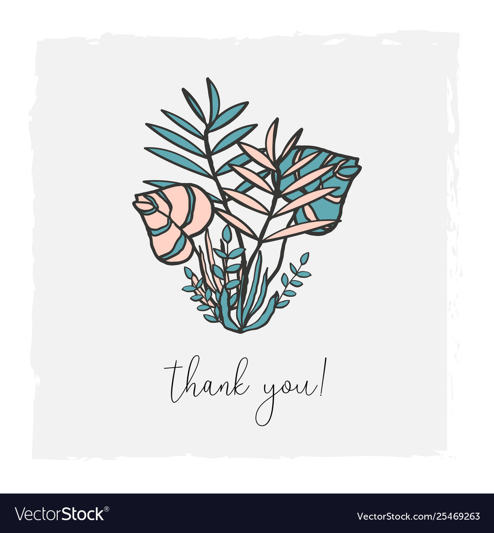 Floral hand drawn for invitation
