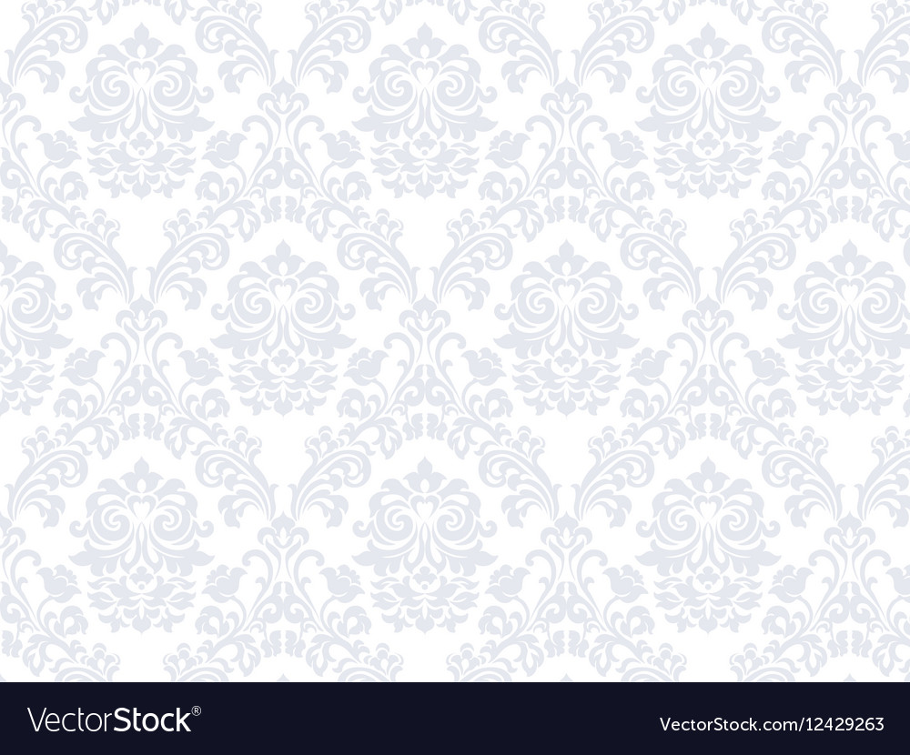 Floral ornament damask pattern